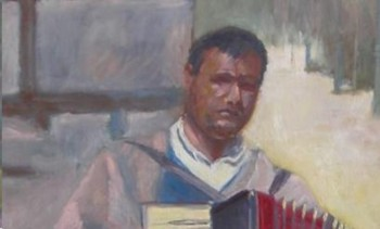 The Accordian Player - Eric Soll - Modern Expressionism