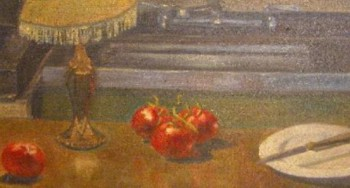 Tomatos in an Urban Kitchen - Eric Soll - Modern Expressionism